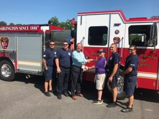 Photo of Howard Nettles of Genesis Health Care SC with the Darlington SC Fire Department